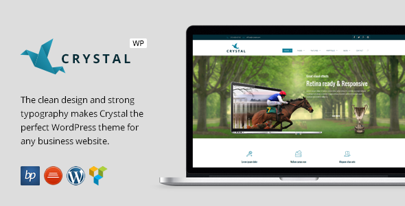Crystal – Responsive Business WordPress Theme