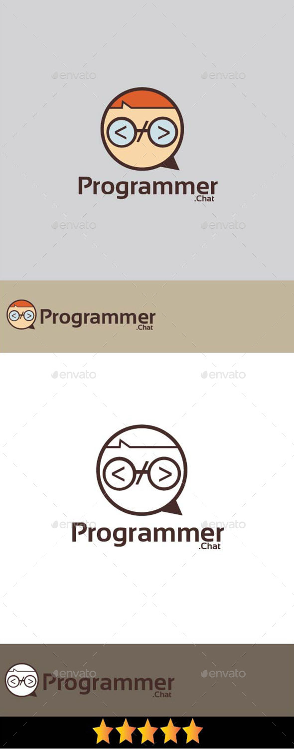 Programmer Chat Logo - Humans Logo Templates