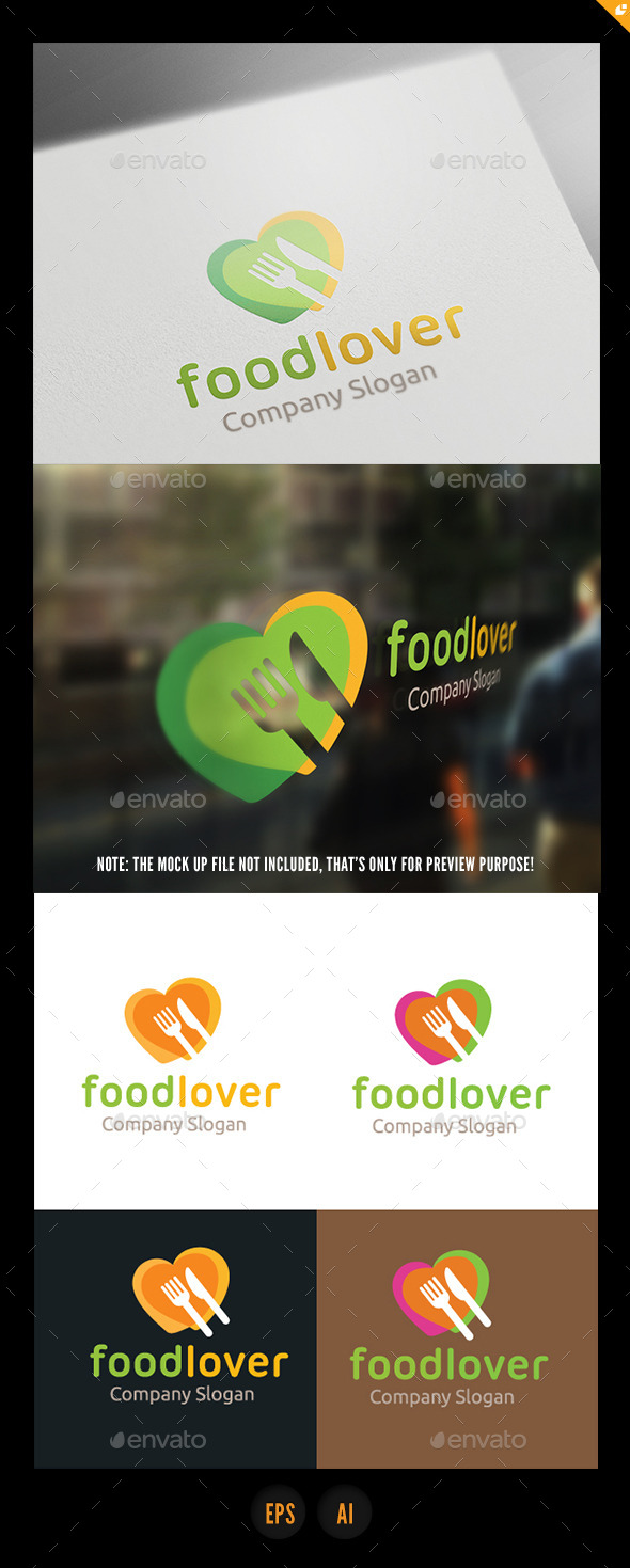 Food Lover - Food Logo Templates