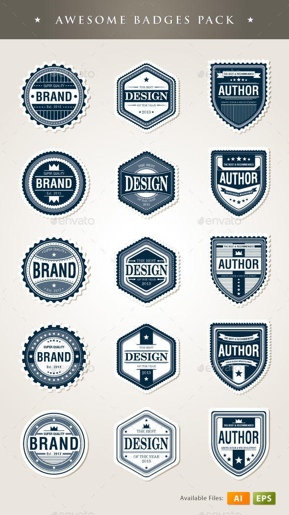 Badges Template - Decorative Symbols Decorative