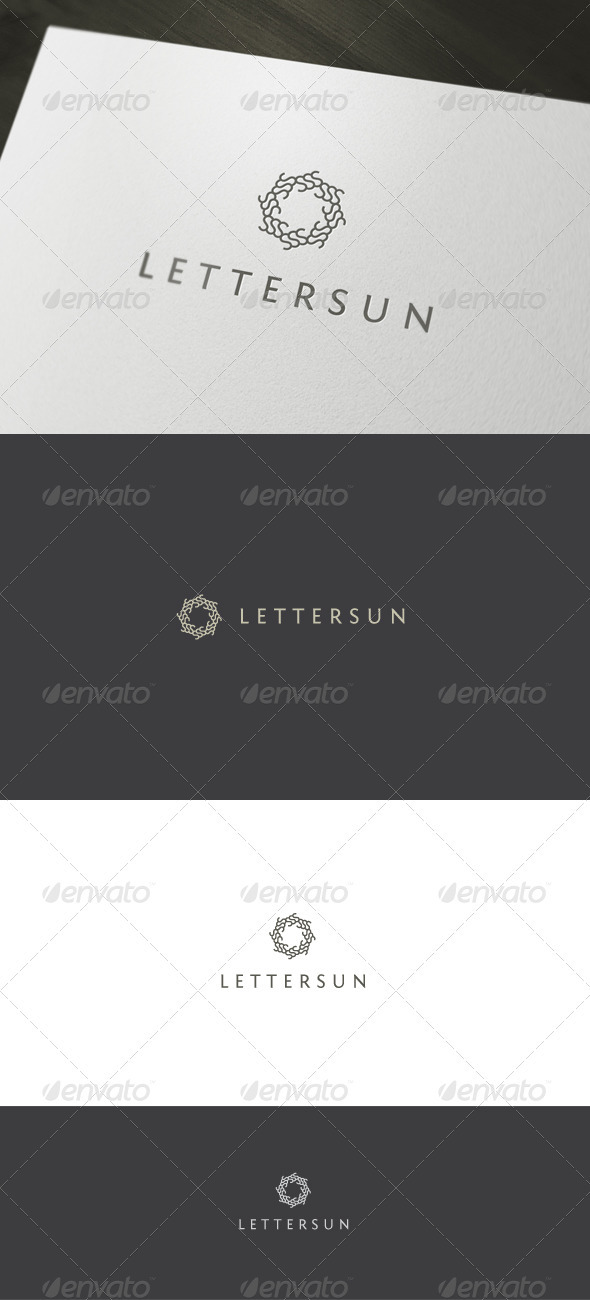 Letter Sun Logo - Vector Abstract