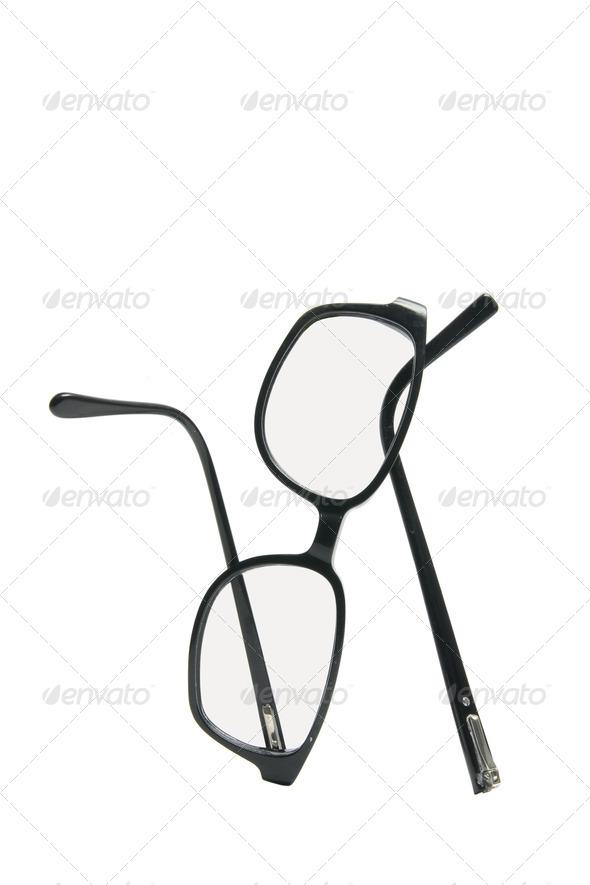 Broken Eyeglasses - Stock Photo - Images
