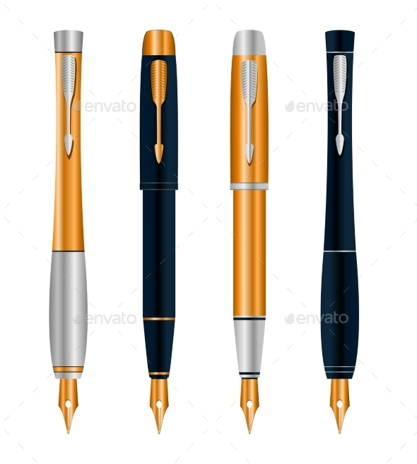 Abstract Pens Set - Objects Vectors