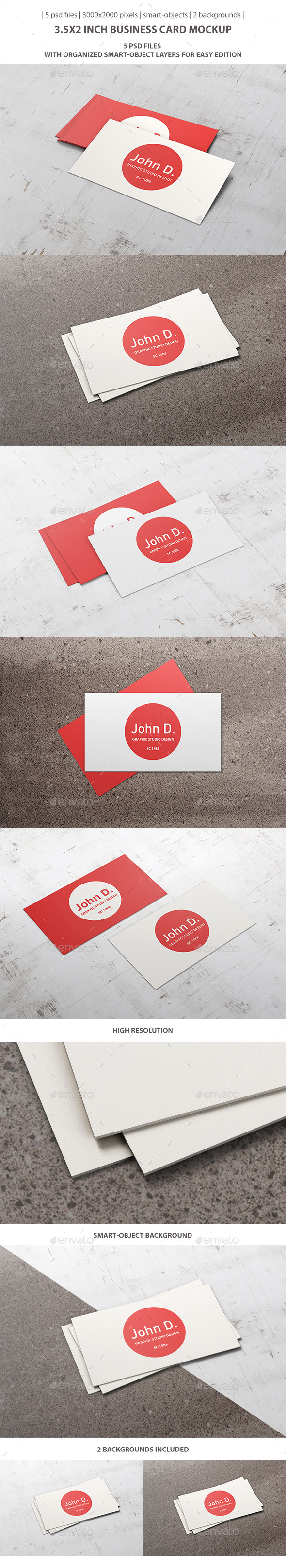 3.5x2 inch Business Card Mockup - Business Cards Print