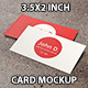 3.5x2 inch Business Card Mockup - GraphicRiver Item for Sale