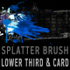 Splatter brush LOWER THIRD & background card COMBO