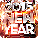 2015 New Year Flyer Template PSD - GraphicRiver Item for Sale