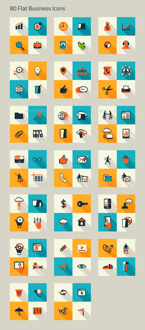 Business Icon Set. Finance, Marketing, E-commerce - Icons