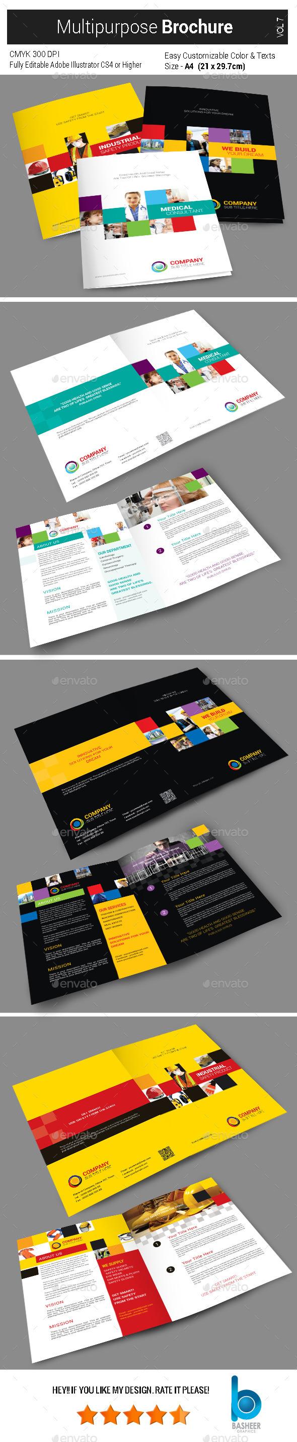 Multi Purpose Brochure - 4 Pages - Vol7 - Corporate Brochures