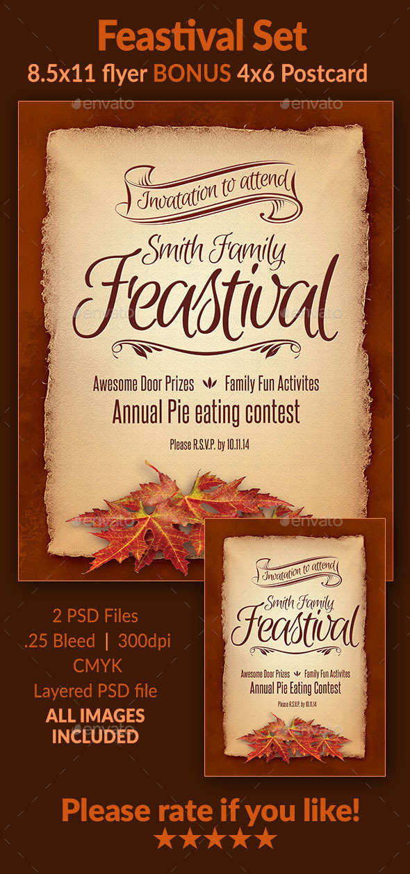 Feastival Flyer Set - Holidays Events