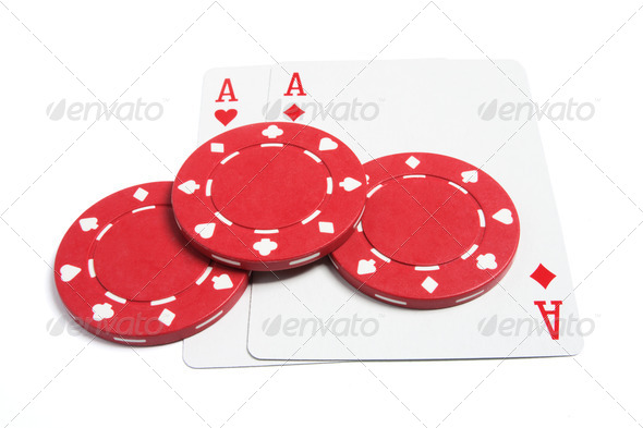 Poker Chips and Playing Cards - Stock Photo - Images
