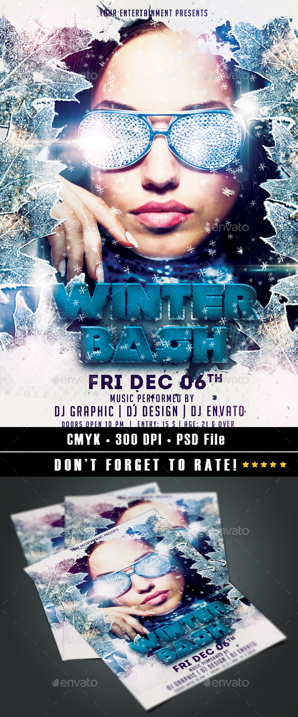 Winter Bash Flyer - Events Flyers
