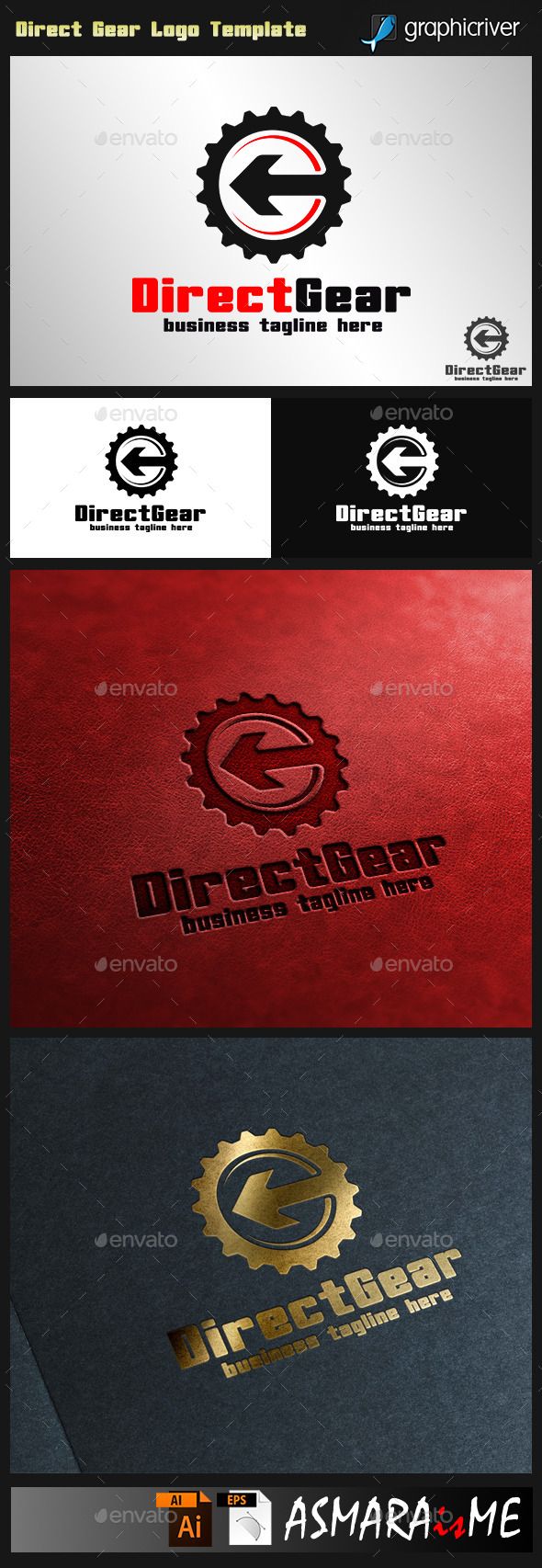 Direct Gear - Auto Direction logo - Symbols Logo Templates