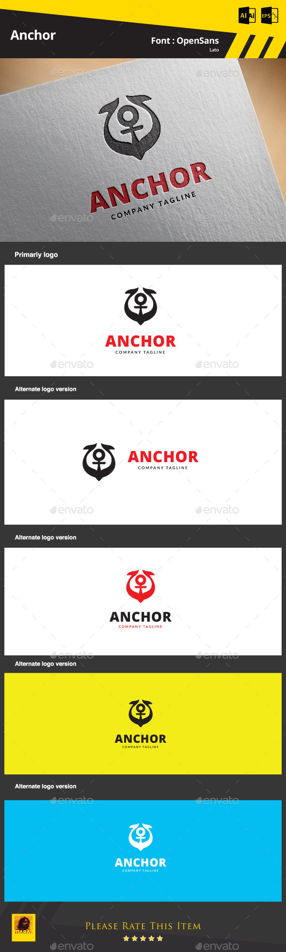 Anchor  Logo Template - Objects Logo Templates