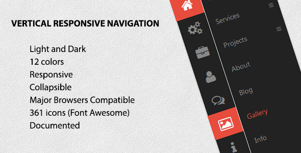 Vertical Responsive Navigation - CodeCanyon Item for Sale