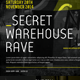 Secret Warehouse Rave Flyer - GraphicRiver Item for Sale