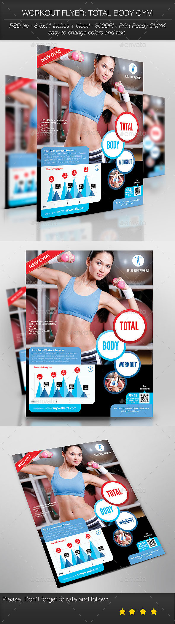 Workout Flyer: Total Body Gym - Sports Events