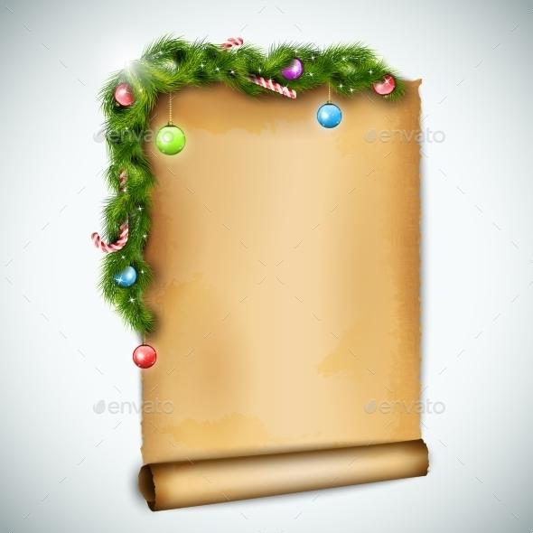 Old Christmas Sheet Of Paper. - Christmas Seasons/Holidays