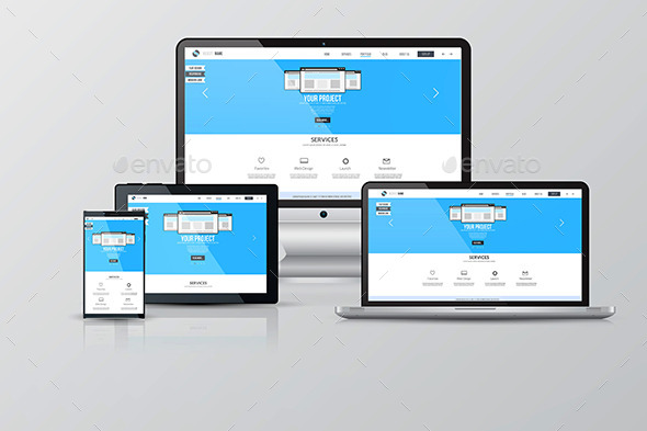 Responsive Screen Mockups - Technology Conceptual