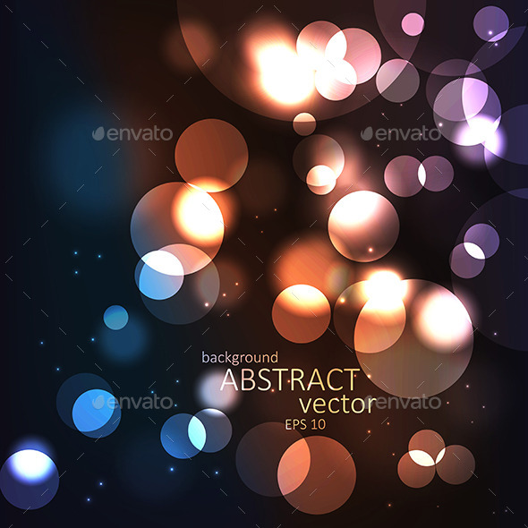 Abstract Background with Blurred Defocused Lights - Backgrounds Decorative