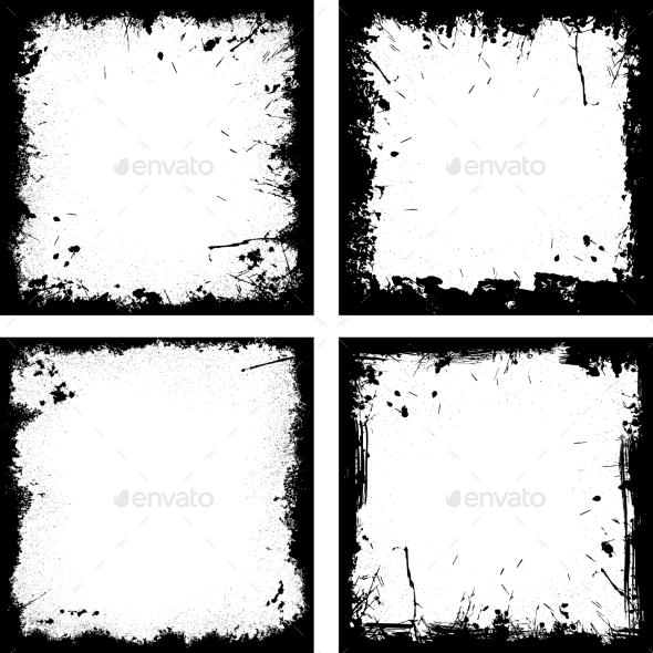 Grunge Frames Collection. - Decorative Vectors