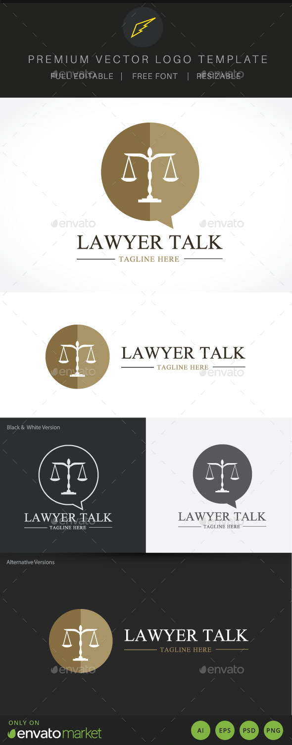 Lawyer Talk - Crests Logo Templates