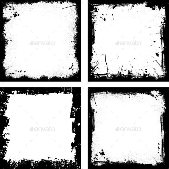 Black Frames - Decorative Vectors