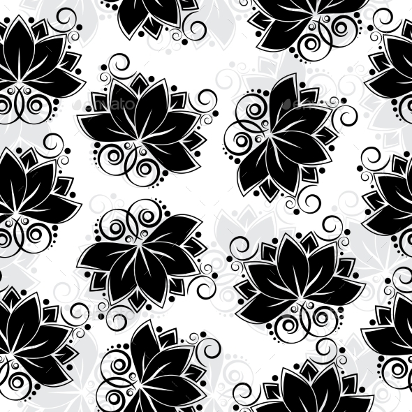 Lotos Seamless Background - Flowers & Plants Nature