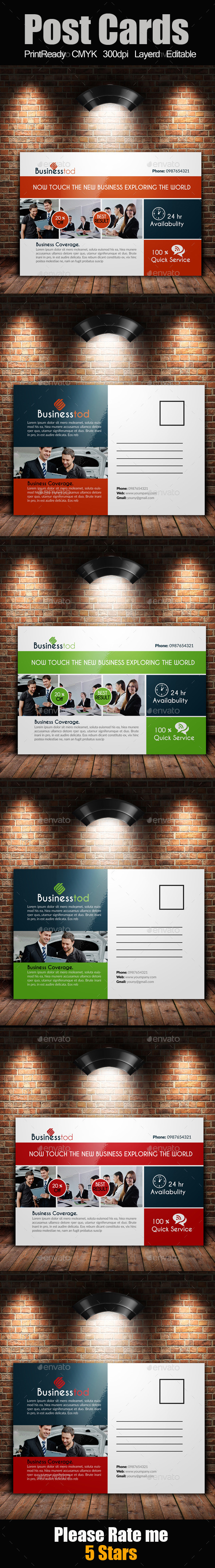 Multi Use Business Post Cards  - Cards & Invites Print Templates