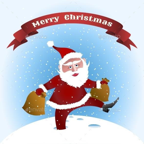 Walking Santa - Christmas Seasons/Holidays