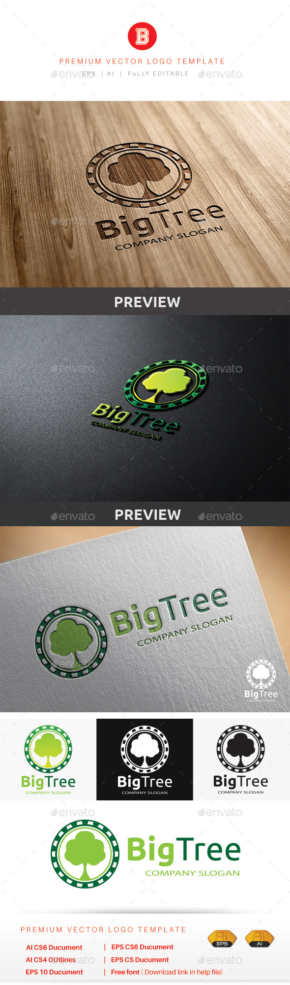 Big Tree V.3 - Nature Logo Templates