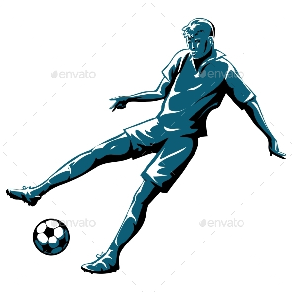 Soccer Player in Action - Sports/Activity Conceptual