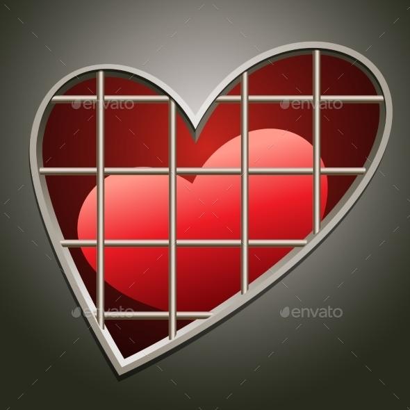 Heart in Jail - Valentines Seasons/Holidays