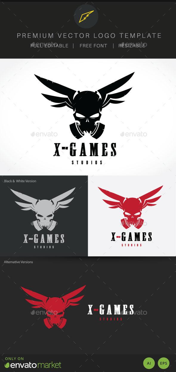 X Game Studio Logo - Crests Logo Templates