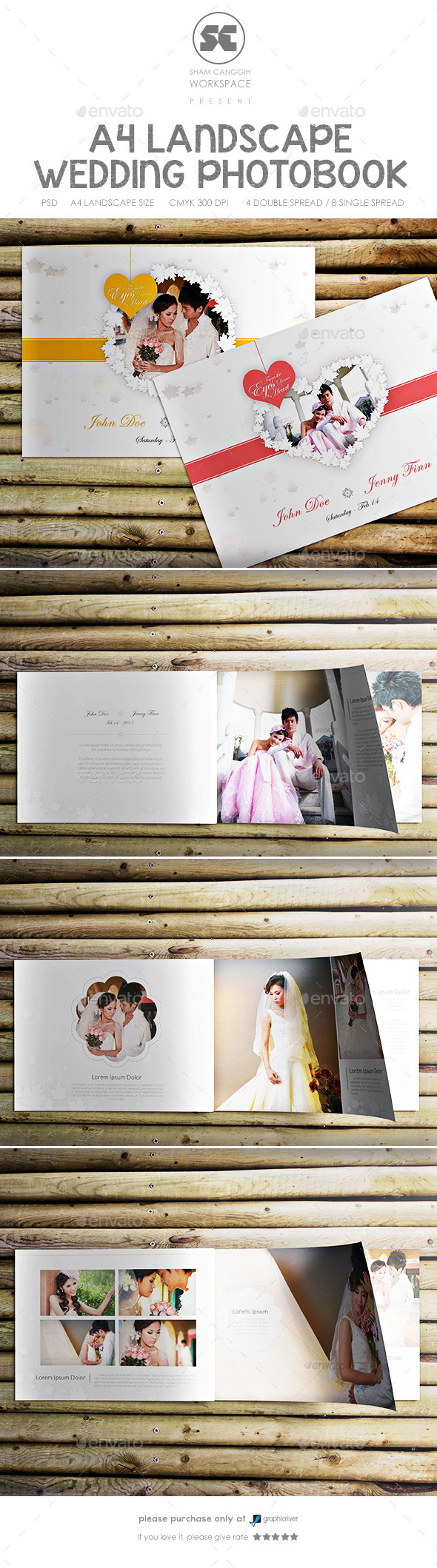 Clean And Modern Wedding Photobook  - Photo Albums Print Templates