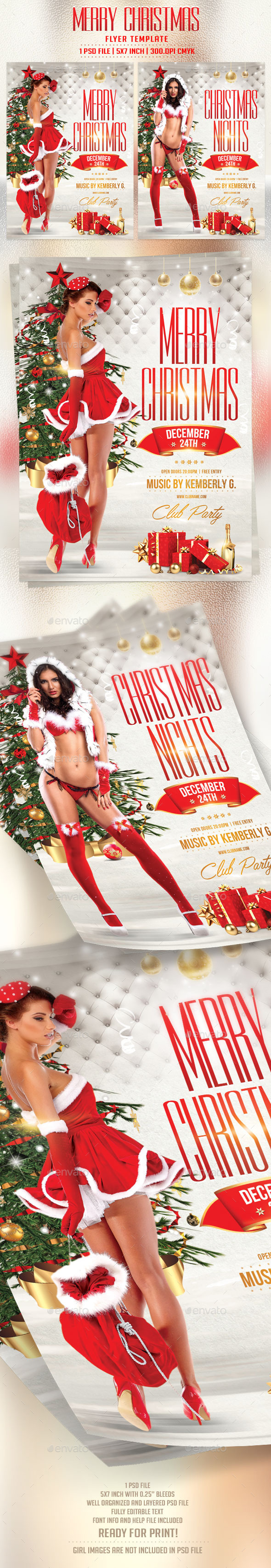 Merry Christmas Flyer Template - Holidays Events