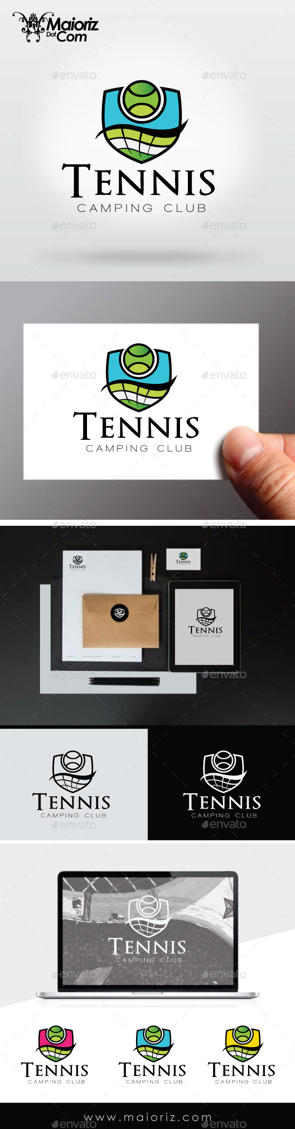 Tennis Club Logo Template - Crests Logo Templates