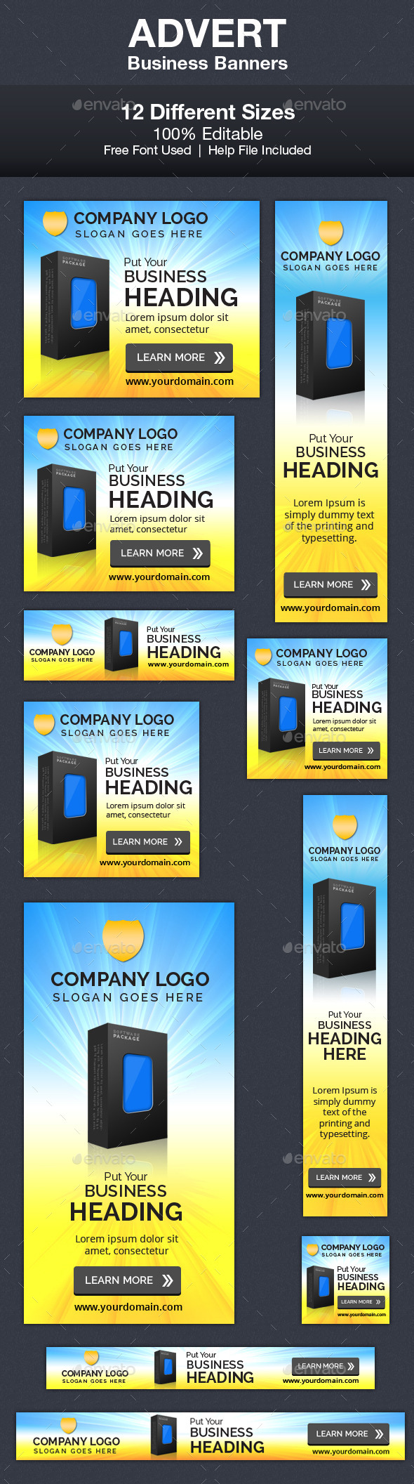 Advert Business Banners - Banners & Ads Web Elements