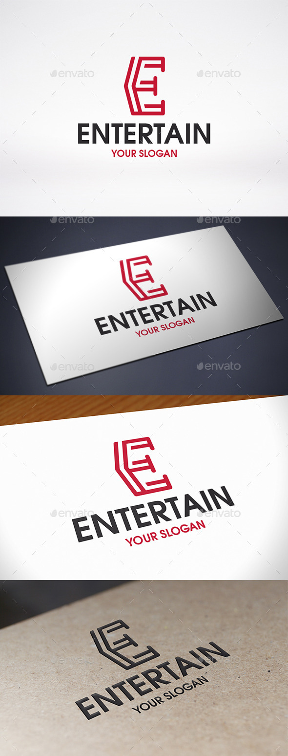Entertainment Letter E Logo Template - Letters Logo Templates