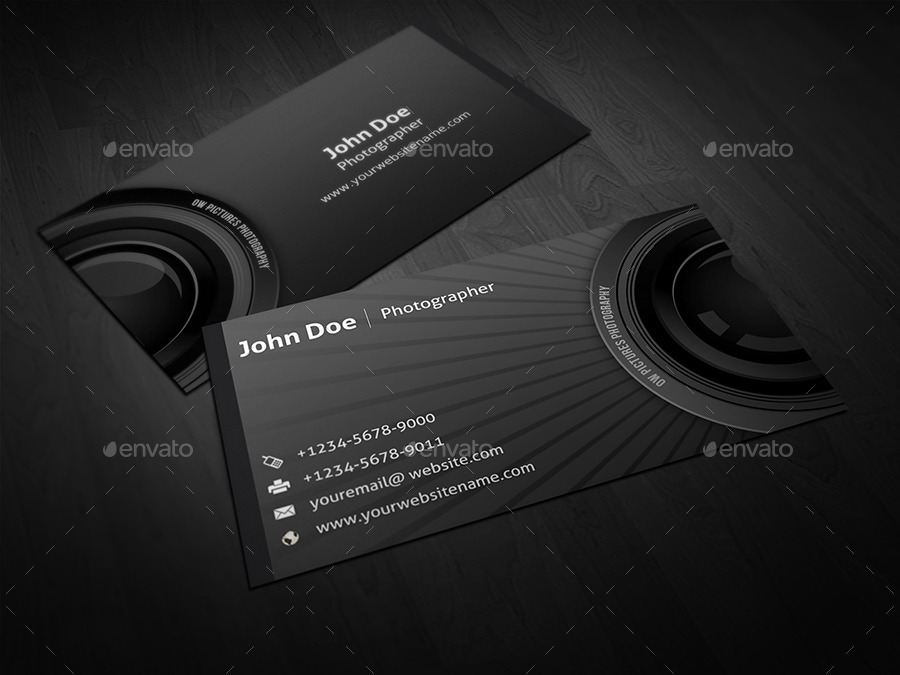 photographer business card by owpictures graphicriver