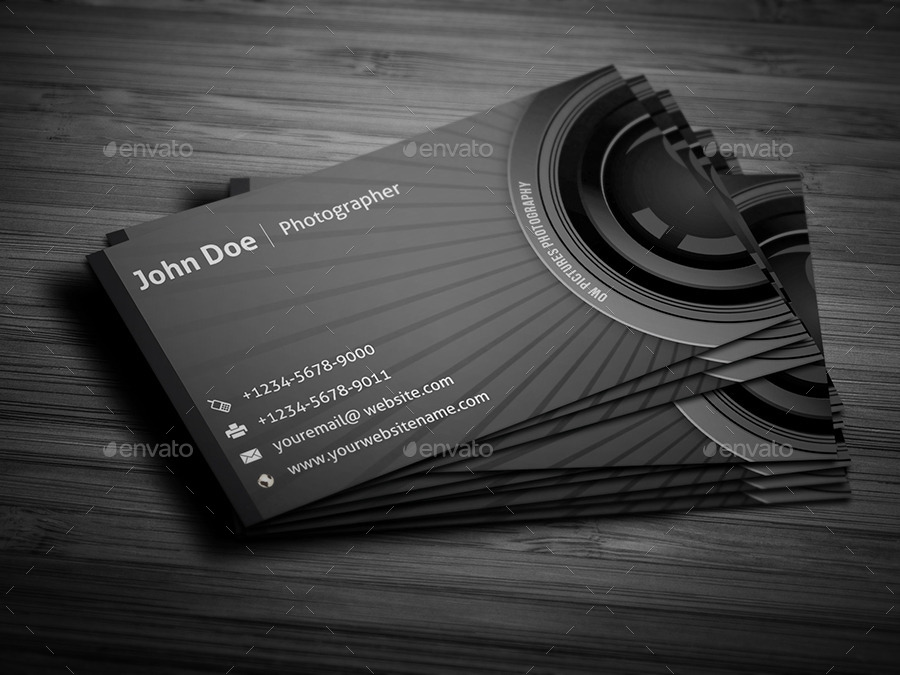Photographer business card by owpictures graphicriver for Best business cards for photographers
