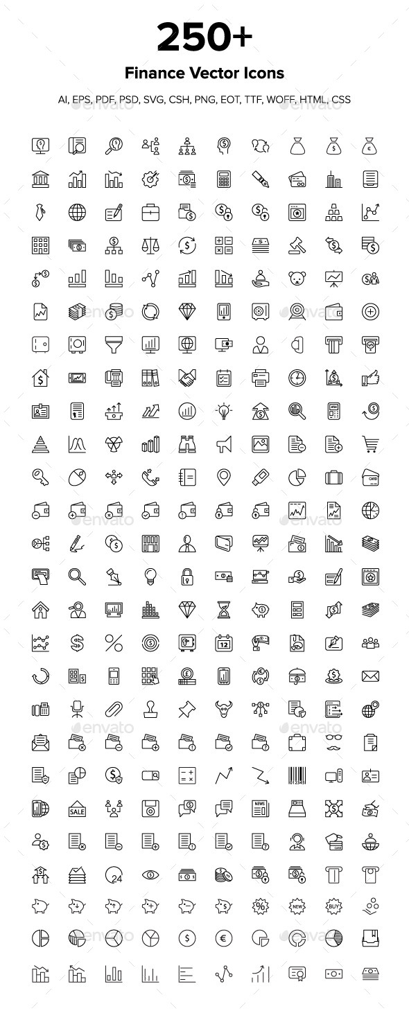250+ Finance Icons - Icons