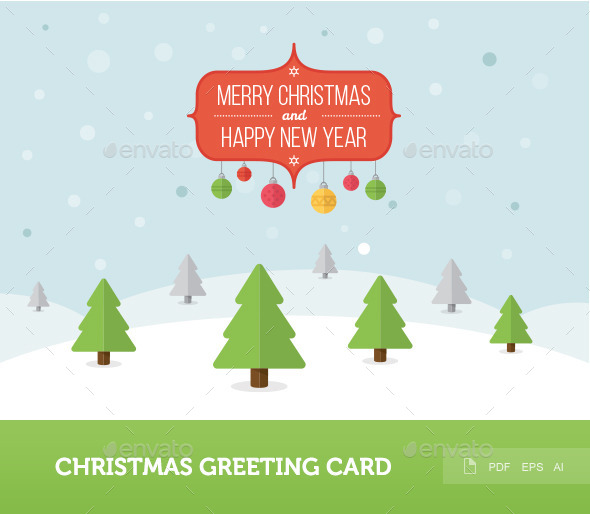 Christmas Greeting Card 1 - Christmas Seasons/Holidays