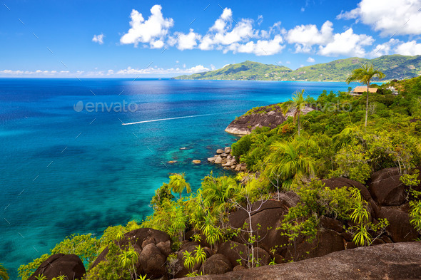 Mahe landscape - Stock Photo - Images