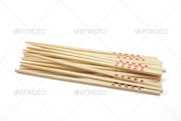 Pile of Chopsticks - Stock Photo - Images