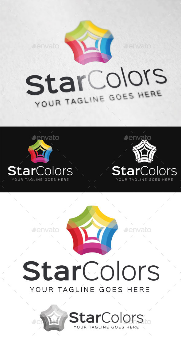 Star Colors Logo Template - Abstract Logo Templates