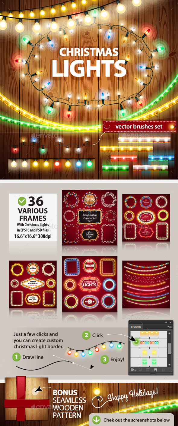 Christmas Lights Decorations Set - Christmas Seasons/Holidays