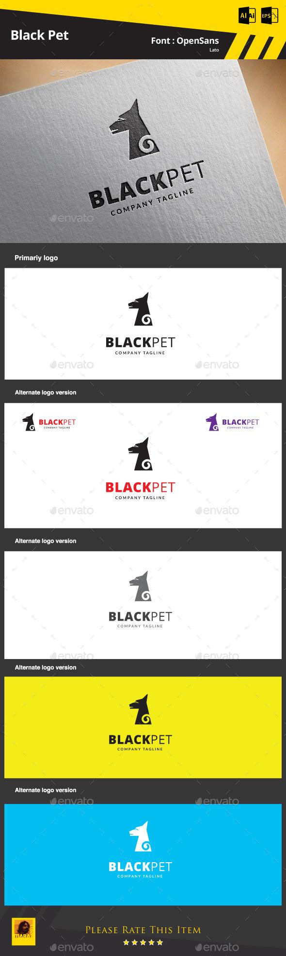 Black Pet Logo Template - Animals Logo Templates