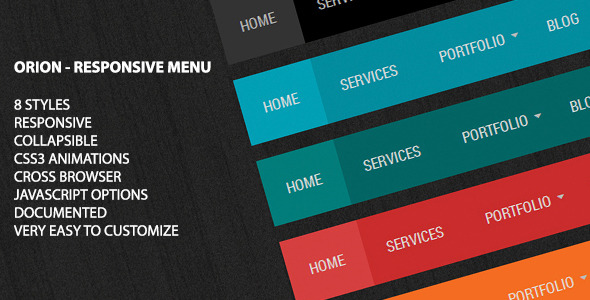 Orion - Responsive Menu - CodeCanyon Item for Sale