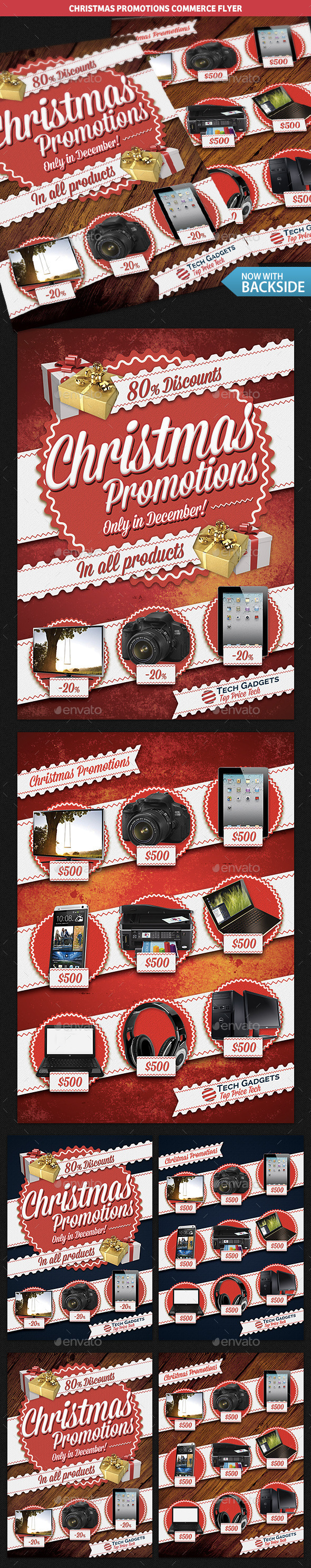 Christmas Promotions Commerce Flyer - Commerce Flyers